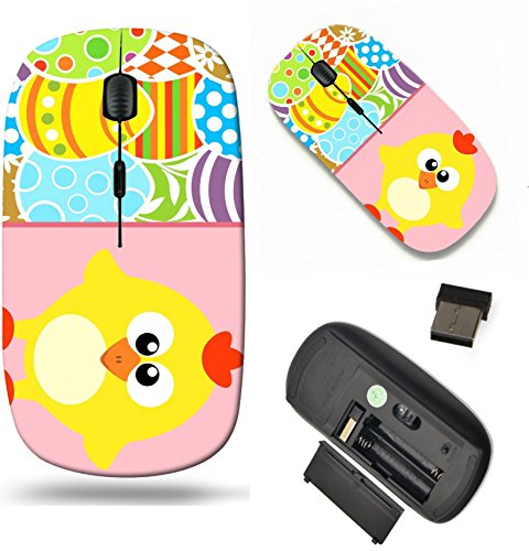 Free Scroll Background (MSD Wireless Mouse Travel 2.4G Wireless Mice with USB Receiver, Noiseless and Silent Click with 1000 DPI for notebook, pc, laptop, computer, mac book design 26783118 Easter background card with eggs a)