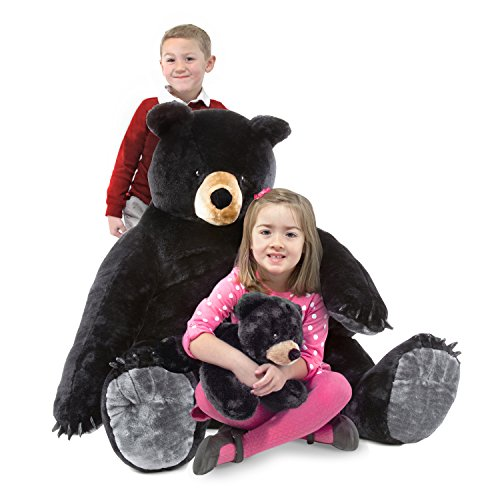 Melissa & Doug Giant Black Bear and Baby Cub - Lifelike Stuffed Animals (nearly 3 feet tall)