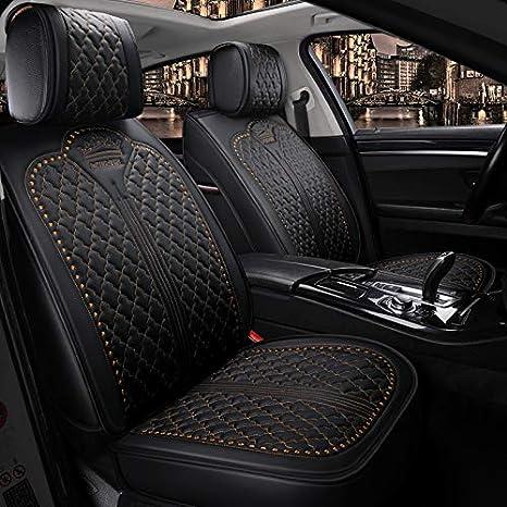 EverFabulous Auto Car Seat Covers 5 Seats Full Set Universal Fit Black-Beige