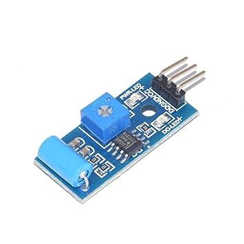 Busirde Sensor de Movimiento de vibración SW-420 del Interruptor del Sensor de Alarma Módulo