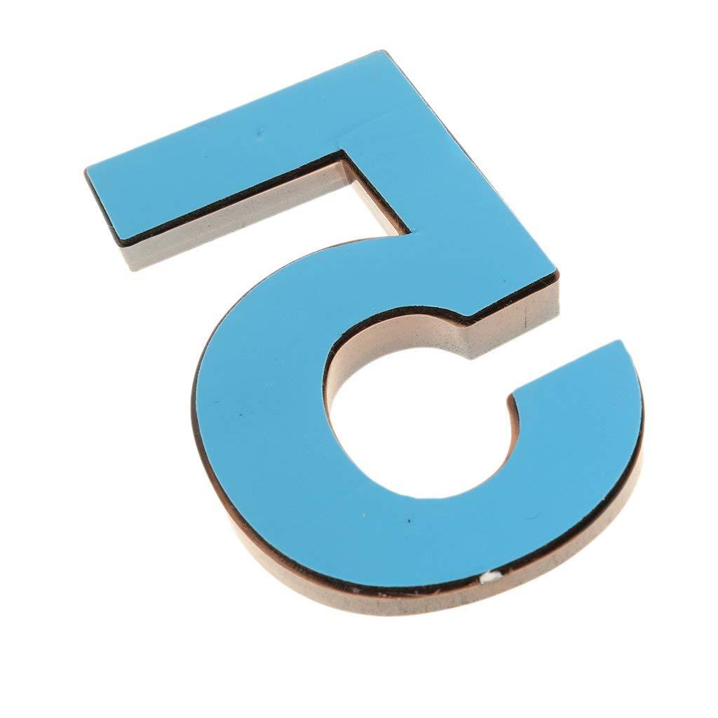 7 cm 3D n/úmeros de bronce Marr/ón n/úmero de inicio resistente a la intemperie n/úmero 0 9 Pegatina para n/úmero de casa buz/ón de puerta de casa DIY