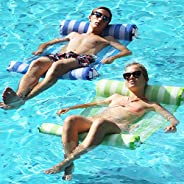 FindUWill 2-Pack Premium Swimming Pool Float Hammock, Multi-Purpose Inflatable Hammock (Saddle, Lounge Chair,