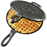 Solid Cast Iron Old Fashioned Waffle Iron by Rome's Original