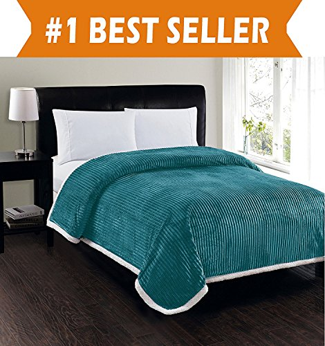 Elegant Comfort Best, Softest, Luxury Micro-Sherpa Blanket on Amazon! Heavy...