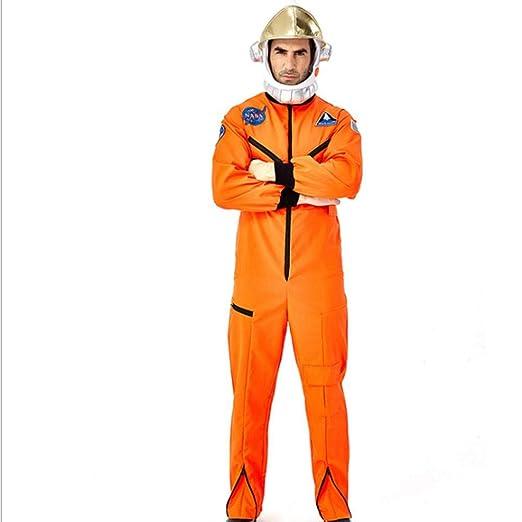 AIYA Disfraz de Astronauta Adulto cos Traje Espacial Amarillo ...