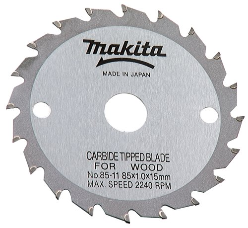 Makita 792611-2 3-3/8-Inch 20 Tooth ATB Saw Blade with 15mm Arbor