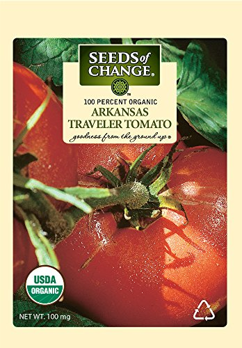 (Seeds of Change S10986 Certified Organic Arkansas Traveler Heirloom Tomato)