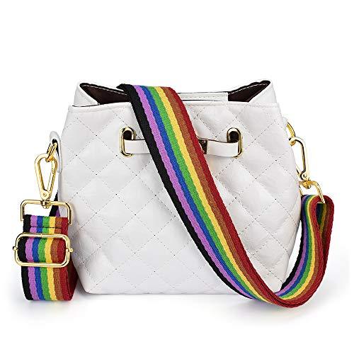 Adjustable Replacement Guitar Strap Styled Handbag Purse Strap (Rainbow)]()
