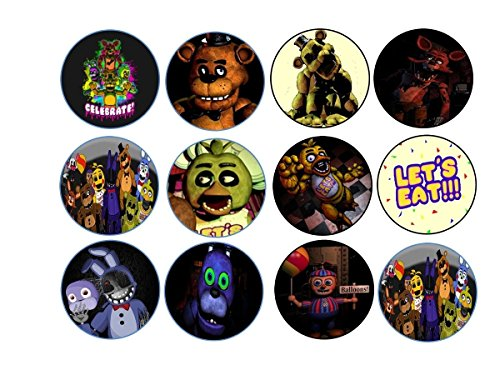 12-five-nights-at-freddies-edible-image-cookie-or-cupcake-topppers-wafer-rice-paper