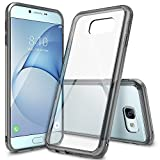 Galaxy A8 Case, Ringke [FUSION] Crystal Clear PC Back TPU Bumper [Drop Protection/Shock Absorption Technology] Raised Bezels Protective Cover For Samsung Galaxy A8 2016 - Smoke Black