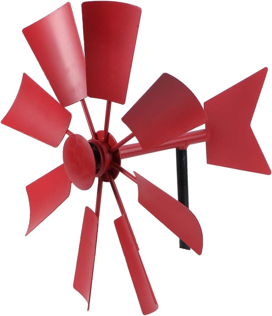 Yardwe Garden Wind Spinners with Metal Stake Lawn Pinwheels Wind Spinner for Outdoors Patio Lawn Yard Garden