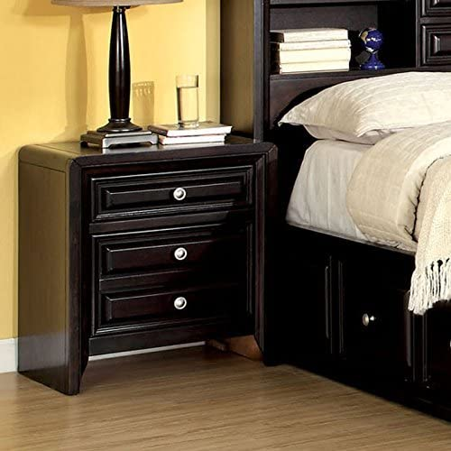 Carefree Home Furnishings Yorkville Transitional Style Espresso Finish Queen Size 6-Piece Bedroom Set