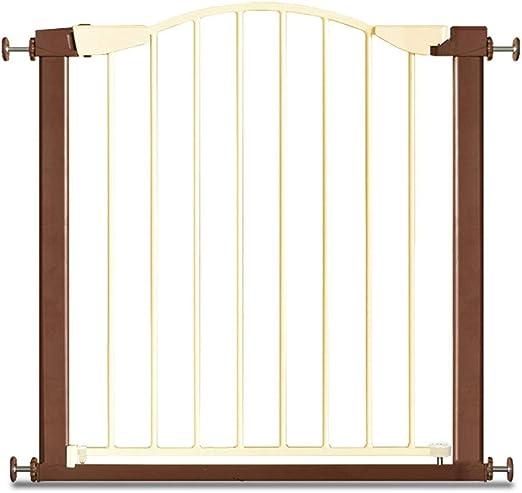 WSQAQM7 Barrera de Seguridad for niños sin Barra, Valla de Escalera for bebés, Valla, Valla de Aislamiento for Mascotas, Puerta de Aislamiento (Color : 75cm-82cm ...