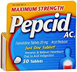 Pepcid AC Tablets Maximum Strength - 50 ct, Pack of 5