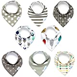 Baby Bandana Bibs for Boys or Girls by CleverMom - Unisex...
