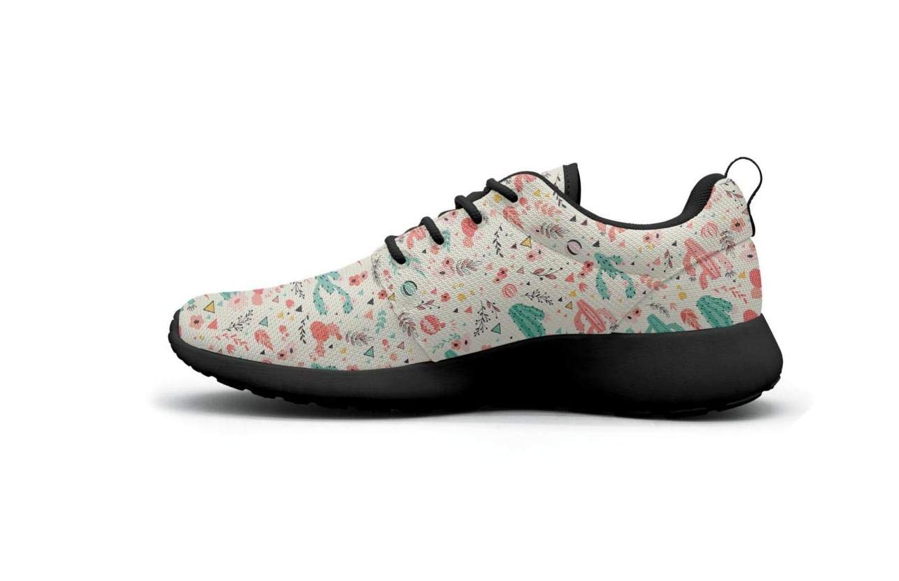 Vasionon Pink Tiny Cactus Sports Running Shoes Casual Lightweight Athletic Sneakers Print Womens Stylish