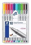Staedtler Triplus Fineliner 0.3 mm Porous Point Pen 334 - SB10, 10 pack