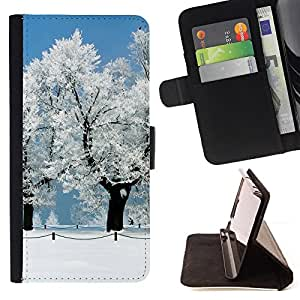 KingStore / Leather Etui en cuir / Sony Xperia Z3 Compact / Blanca Nieve Forrest