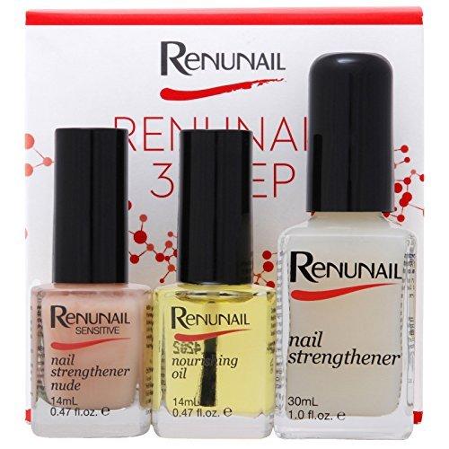 Dr Lewinn's Renunail set: Nourishing Oil, Nail Strengthener, Sensitive Nail Strengthener by Dr Lewinn's