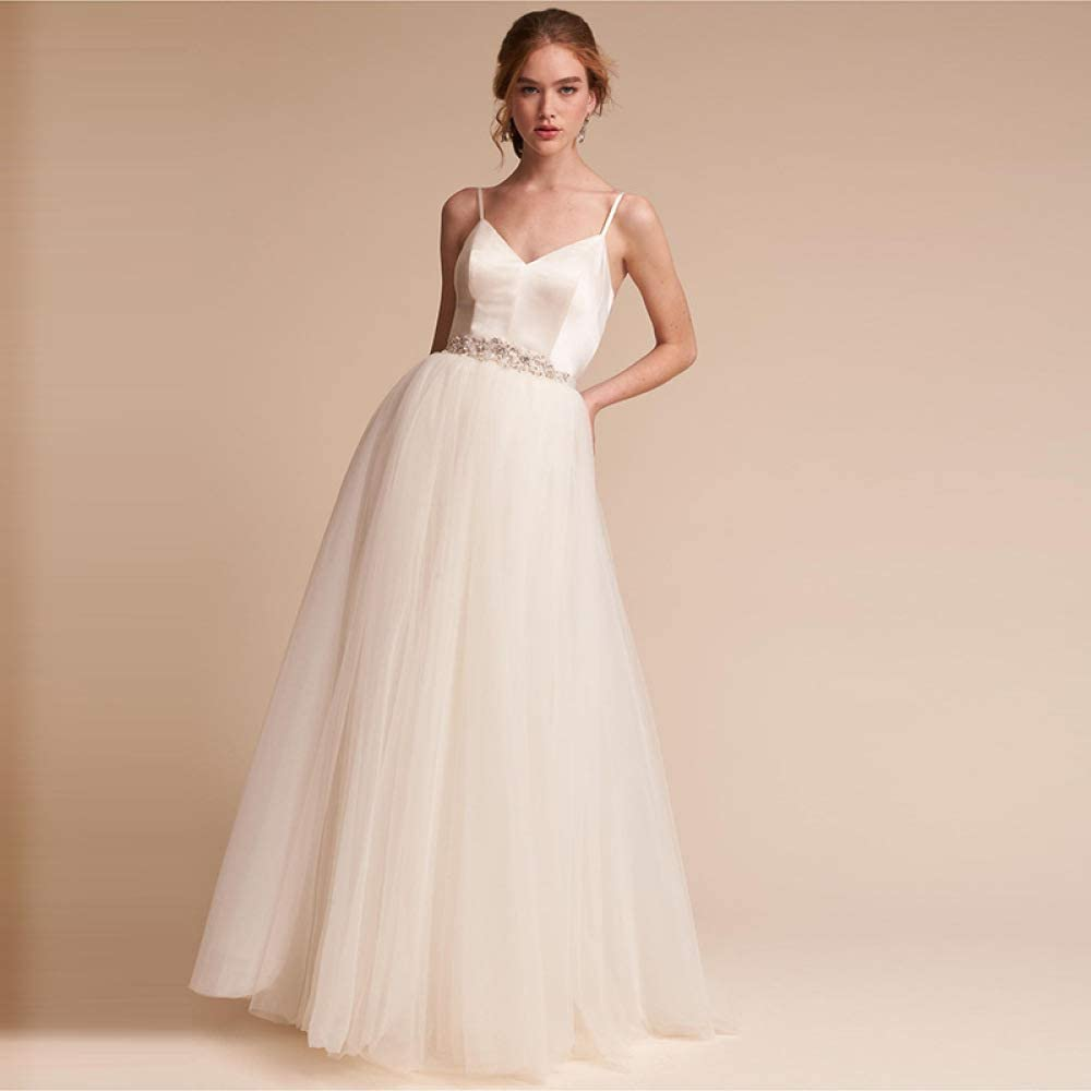 WFL Fashion Slim Beautiful Elegant White Wedding Dresses Sen Sling ...