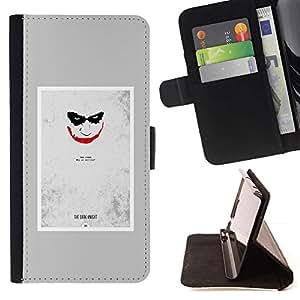 Momo Phone Case / Flip Funda de Cuero Case Cover - Scary Face Sonrisa espeluznante del cartel - Samsung Galaxy S4 IV I9500