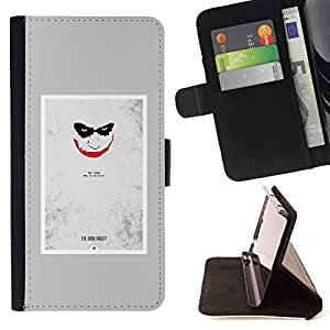 Momo Phone Case / Flip Funda de Cuero Case Cover - Scary Face Sonrisa espeluznante del cartel - LG G4c Curve H522Y (G4 MINI), NOT FOR LG G4