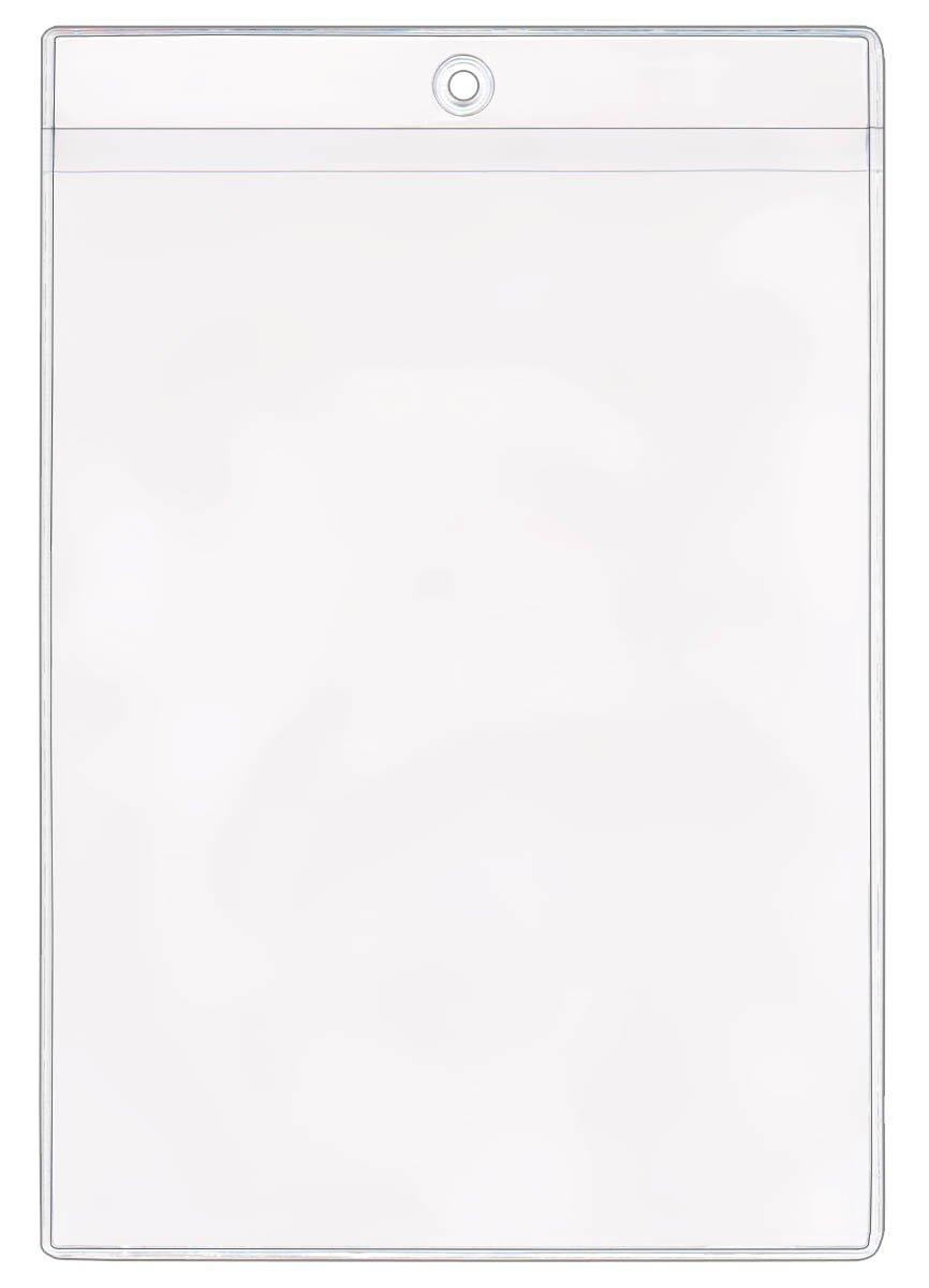 StoreSMART - 5'' x 7'' Job Ticket Holders 50-Pack - Vinyl Plastic - Open Short Side - HPE1419S-50 by STORE SMART
