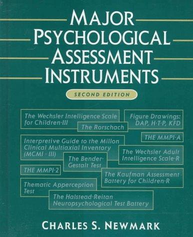 Major Psychological Assessment Instruments (2nd Edition)