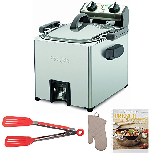 Waring Pro TF200B Rotisserie Turkey Fryer + Cookbook, Oven Mitt and Flipper (Waring Pro Cover)