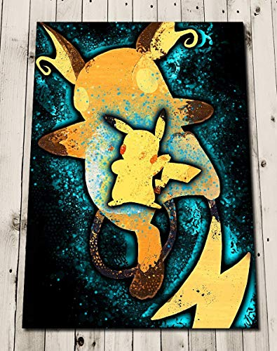 PIKACHU Raichu EVOLUTION POKEMON Art Print Poster Wall Decor