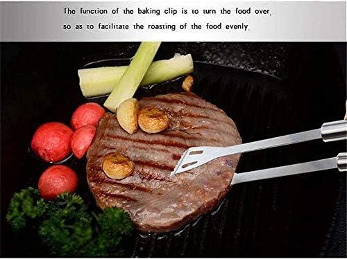 Knoijijuo Couverts Barbecue 18 Pièces D'accessoires en Acier Inoxydable Barbecue en Plein Air De Cuisson, Fourchette Brochettes Grillées, Pelle en Acier.