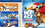 Quest to the North Pole Ice Age Mammoth Christmas Holiday Movie + Animated Dr. Seuss Horton Hears A Who! + Robots & Space Chimps 4 Movie Cartoon Set