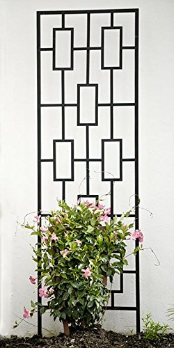 Panacea Contemporary Trellises, Black, 78''H, Pack of 2