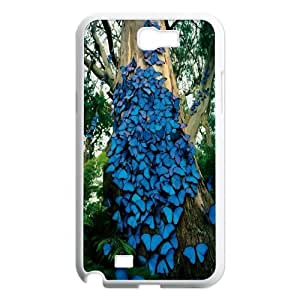 High Quality Phone Back Case Pattern Design 13Colorful Butterfly- For Samsung Galaxy Note 2 Case