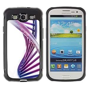 iKiki Tech / Estuche rígido - Spiral Dna Structure Colorful Purple Ladder - Samsung Galaxy S3 I9300