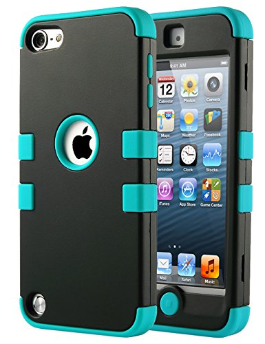 Ulak 3310130 Hybrid Silicon Hard Case Cover for iPod Touch 5 6th Generation - Black/Blue