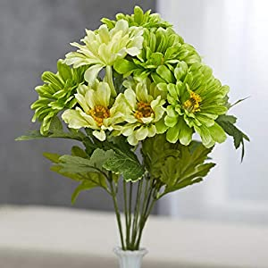 Factory Direct Craft Green Artificial Zinnia Bush 22