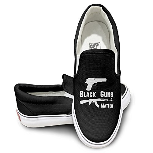 Custom Men's & Women's Cute Guns Matter Pistol Nude Shoes Black Size 37 (Space Jam Costumes)