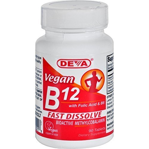Deva Vegan Vitamins Sublingual B 12 Vegan 90 Tab