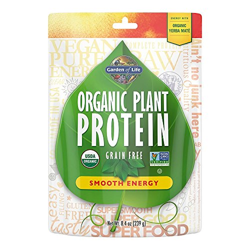 Garden of Life Organic Protein Powder - Vegan Plant-Based Protein Energy, 8.4 oz (239g) Powder (Best Protein Powder For Energy)