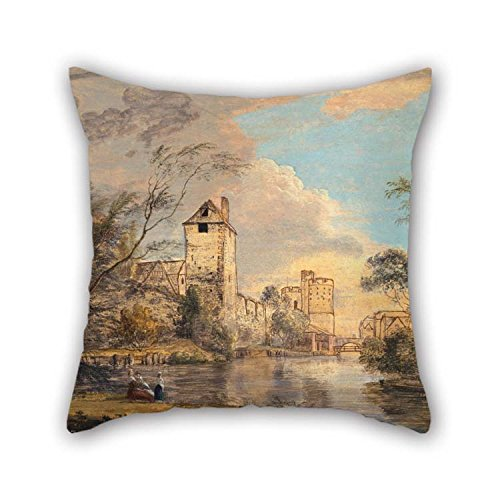 West Side Lounger (Pillow Covers 20 X 20 Inches / 50 By 50 Cm(each Side) Nice Choice For Gf Bar Seat Indoor Adults Christmas Play Room Oil Painting Paul Sandby - An Unfinished View Of The West Gate, Canterbury)