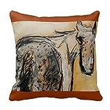 KarilShop Appaloosa gray Linen Throw Pillow Case Cushion Cover Home Sofa Decorative 18 X 18 Inch.