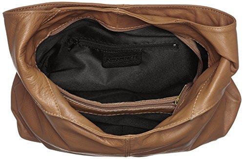 la plástico Gris con Fango Bandolera 41x55x12cm de 100 mano CTM Italy Mujer Made en in cuero genuino bolsa TqX0wWAFca
