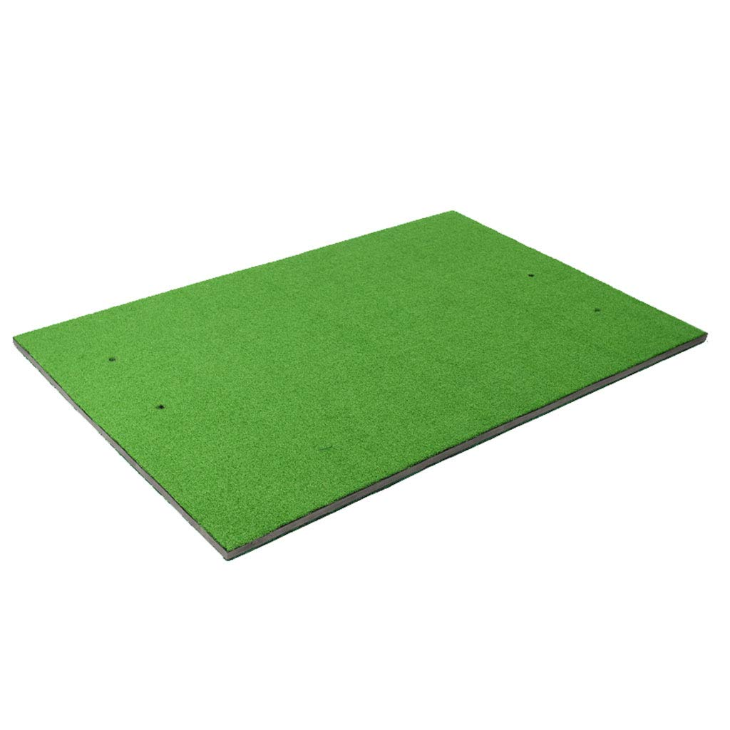 ポータブルゴルフ練習マット、両面2色、EVA、リアルスイングトレーナーマット、屋内外使用 B07GVHNCFN