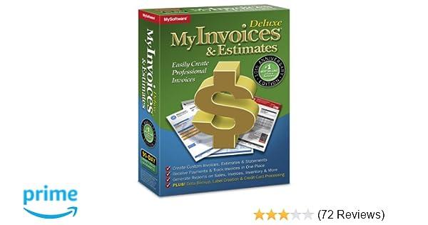 amazon com myinvoices estimates deluxe