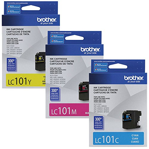 Brother LC-101 Standard Yield Ink Cartridge Set Colors Only