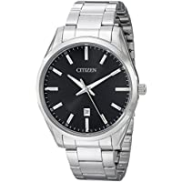 Citizen Men's Black Dial Stainless Steel Watch