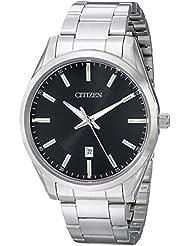Citizen Mens Quartz Stainless Steel Watch with Date, BI1030-53E