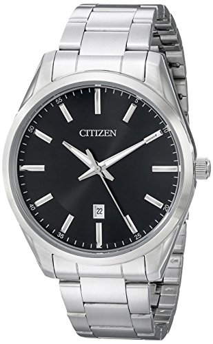 (Citizen Men's Quartz Stainless Steel Watch with Date, BI1030-53E)