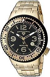 Swiss Legend Men's 21848P-YG-11-GBB Neptune Force Analog Display Swiss Quartz Gold Watch